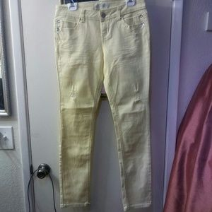 Sale! BOGO 50% OFF! New Yellow Destructed Jeans